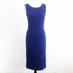 Anthropologie Tabitha Blue Quilted Sheath Dress